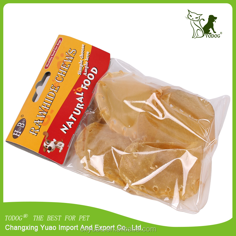 Natural rawhide dog shoes dog chews pet treat toy pet food