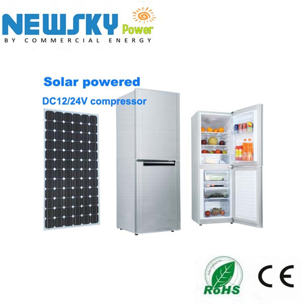 DC compressor Fridge And Freezer 128L buil-in solar Refrigerator