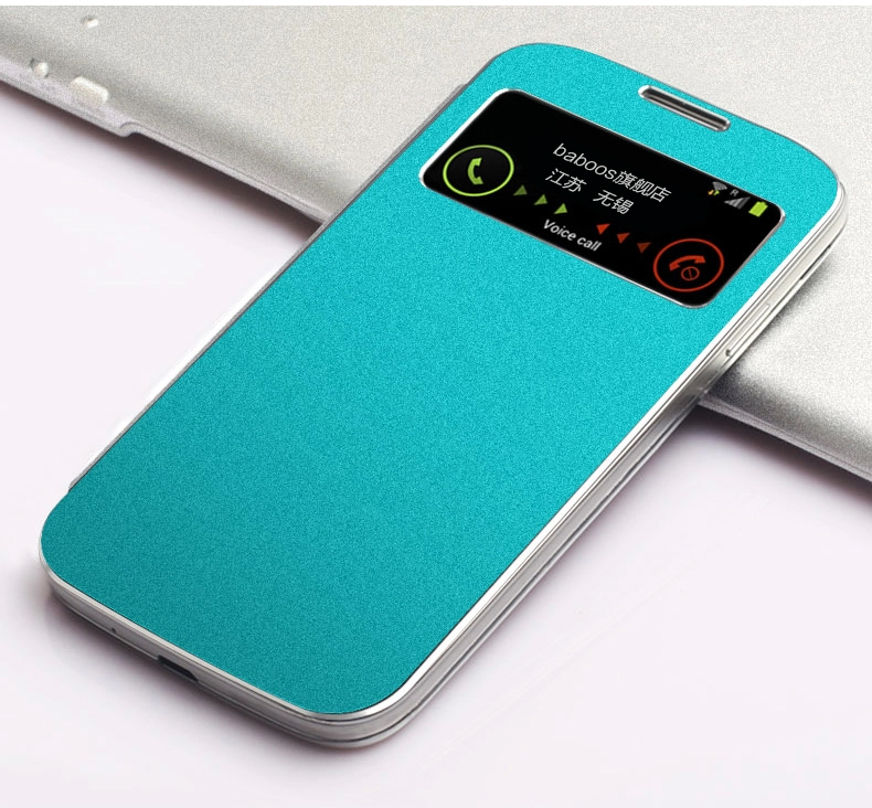 Flip PU Leather Case Cover Smart Wake View For Samsung Galaxy S4 S IV i9500