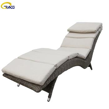 Hot sale outdoor wicker patio daybed