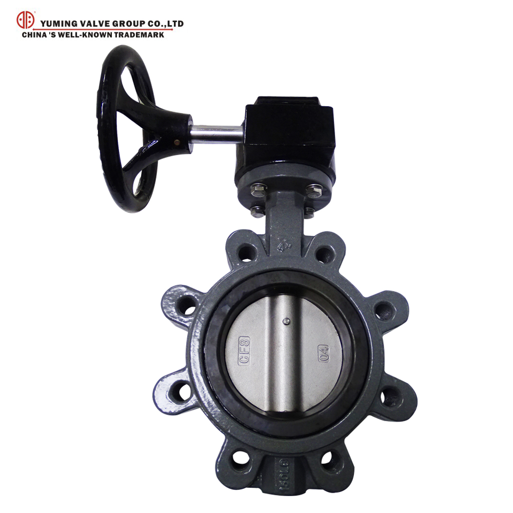 worm gear lug cast steel 6inch butterfly valve