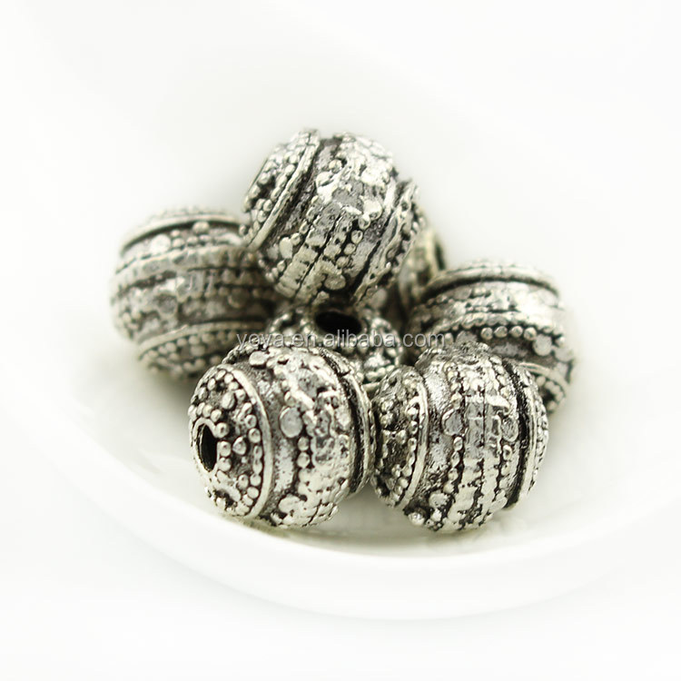 JS1264 10mm Metal Spacer Beads,Tibetan Silver Alloy Beads for Jewelry Making