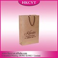 Wholesales Custom Logo Printing Foldable Handmade Brown Kraft Paper Bag Shopping Bag