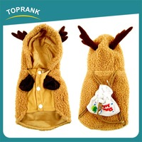 Cheap wholesale cute fawn winter dog clothes christmas dog costume