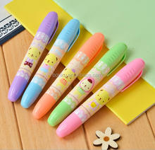 Fat multi colored highlighter pen with printing logo