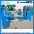 Automatic cutting and less pollution wood stick charcoal making machine