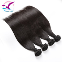 Virgin Cuticle Aligned Human Free Shipping Natural 5A Grade Virgin Malaysian Straight Hair