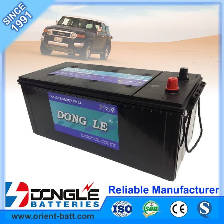 High quality heat and vibration resistant N150 car battery for truck