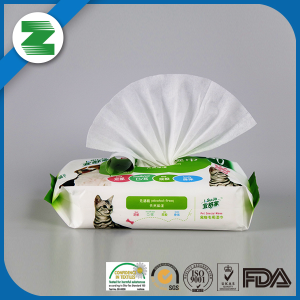 Used for home pets for dog cat body cleaning wet wipes