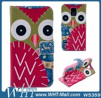 China Supplier Customized OEM Leather Flip Back Cover OWL Phone Case For Samsung Galaxy Note 3