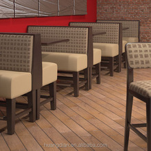Custom made cheap furniture wooden restaurant booth seating and table