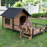 outdoor wooden build dog house
