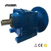 R series helical gear reducer gearbox geared motors