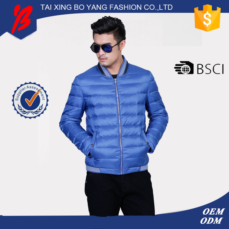 China manufacturer winter padded jacket with certificate
