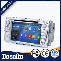 Cheap 7 inch 16GB Android 5.1.1 car audio dvd player gps navigation system for Ford S Max