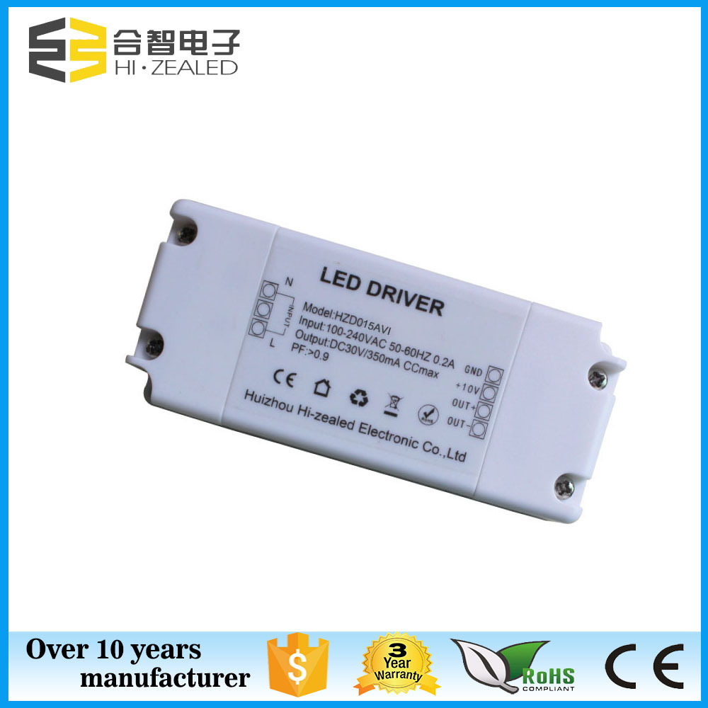 0-10v dimmable constant current power supply 10w 350ma led panel light driver