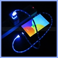 Visible LED Light Data Cable Luminous Micro USB Charger for Samsung/HTC Smartphone