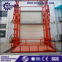 Strong plywood case portable hydraulic used cargo elevator for sale