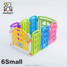 Comfortable small playground plastic indoor baby fence