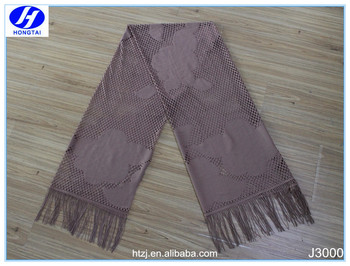 Hongtai neck designs of kurtis brown eyelash tassels lace fabrics