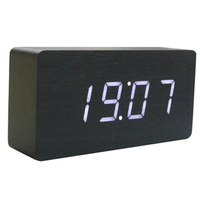 ZOGIFT Promotional Newest Wooden Digital LED alarm Clock with 3 colors