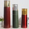 Colorful electroplating Shotgun Shell Bullet Shape 12 Ga Double Wall Vacuum Insulated Thermos Bottle