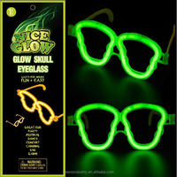 Cheap LED Lighted Glow in the Dark Skeleton Shape Glasses for Party/Festival/Dance/Concert/Camping/Bar/Game/Wedding