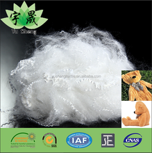 Spinning polyester staple fiber stuffing pads