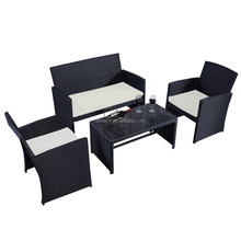 2016 metal 4 PCS Outdoor Wicker Patio Set Garden Lawn Rattan home garden Sofa Furniture