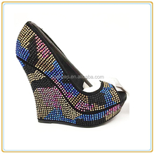 High heel ladies shoes Luxury jewel dress party prom women shoes