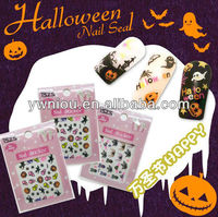 HW-1 skull nail stickers halloween nail stickers