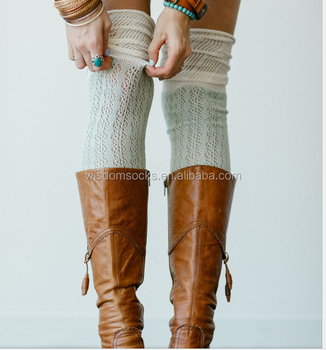 wholesale knee high fuzzy winter weekday warm sex girl boot socks
