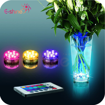 Colorful Remote controlled submersible led lights