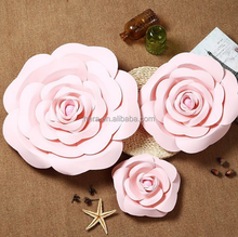 delicate giant paper rose flower wall backdrop handmade paper flower wall for wedding decoration