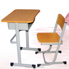 Adjustable steel single school desk and chairs sets/used tables and chairs for sale
