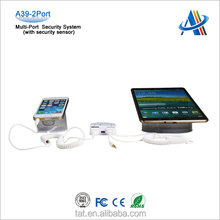 Mobile phone usb port mobile security display system with charging alarm function for the digital stores