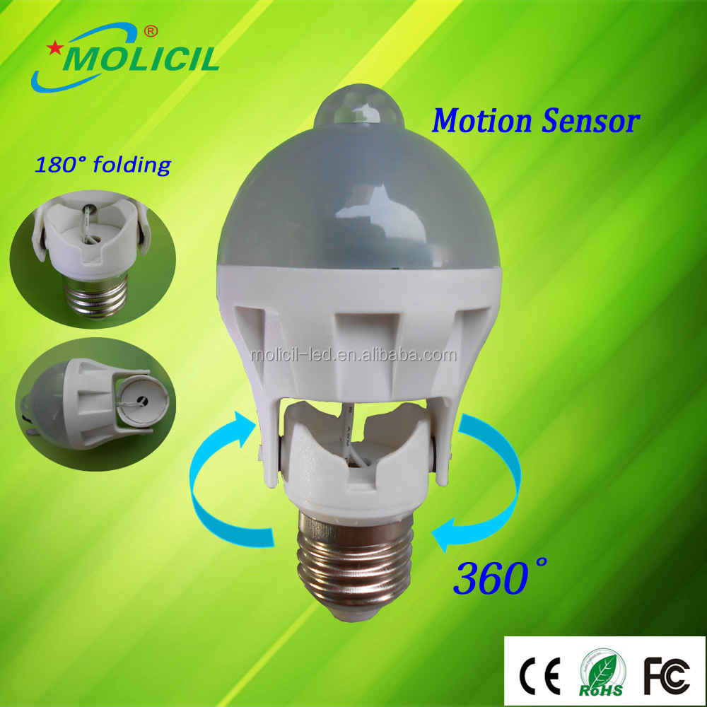 New microwave radar motion sensor 7W led bulb light smart lighting