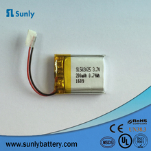 UL certificated 3.7v 180mah 502025 li ion battery cell for wireless earphone