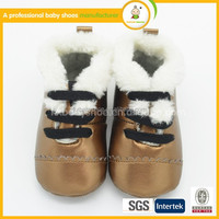 High quality winter warm wholesale Footwear fashion golden baby boots safety shoes
