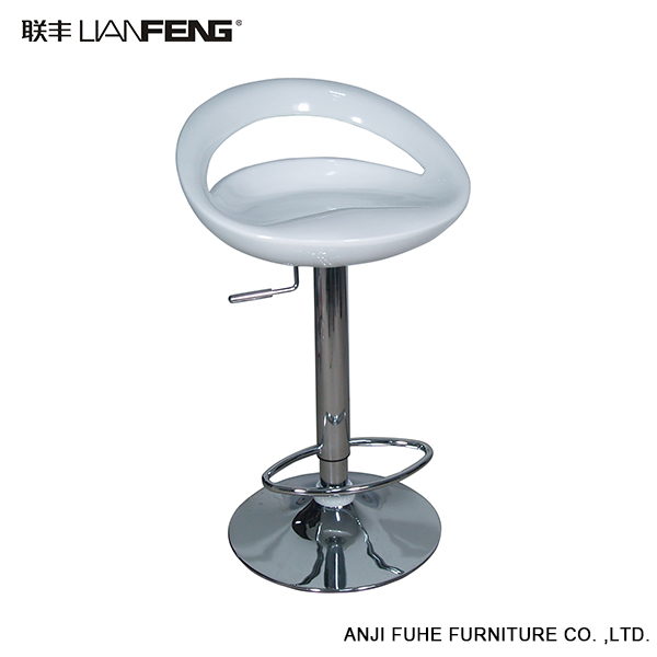 White color ABS swivel modern bar stools for bar stool furniture