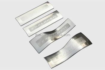Car accessories stainless steel outer door sill plate for ford explorer 2016 parts