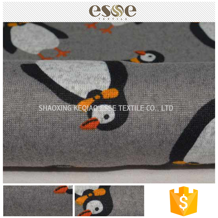 Cute women garment cheap polyester cartoon print fabric