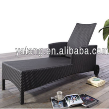 Best quality outdoor furniture black rattan lightweighr sun bed beach sun lounger