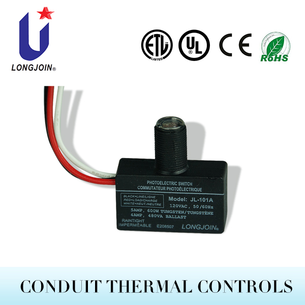 Wire-in Thermal Control Outdoor Photocell Light Sensor Photoelectric Switch With UL Recognized