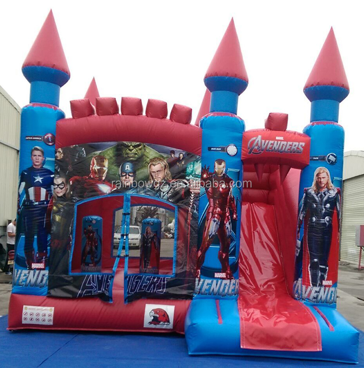 Avenger Inflatable Jumping Castle For Sale , Inflatable Princess Bouncy Castle