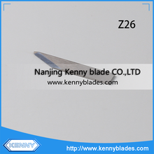 8.7mm Max Cutting Depth Carbide Z26 Zund Cutter Oscillating Blade For Nylon/Felt/Nonwoven/Leather/Fabric