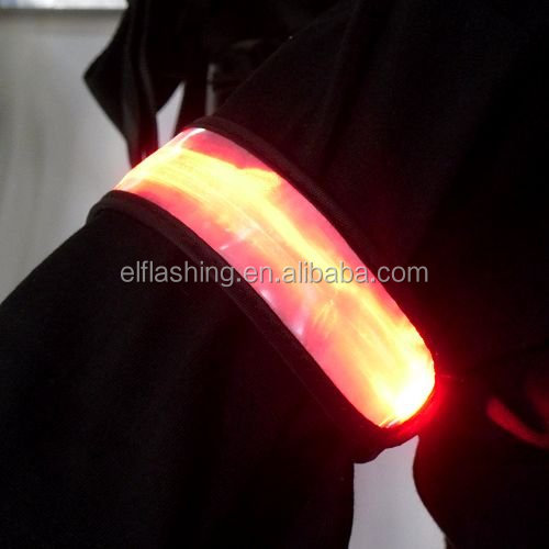 Sports led armbands reflective lighted armband flashing led arm belt