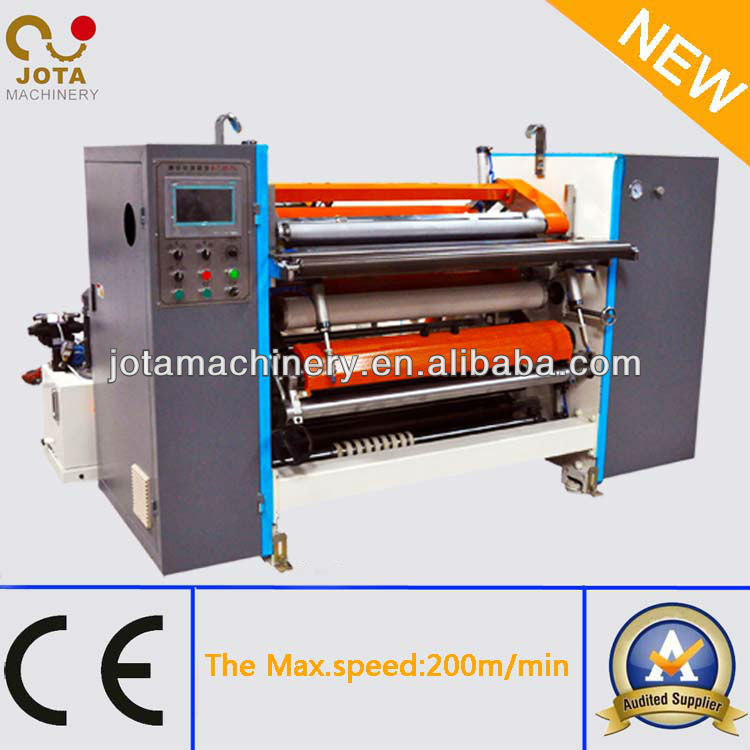Hydraulic Loading Non Woven Cloth Roll Slitting and Cutting Machine Manufacture