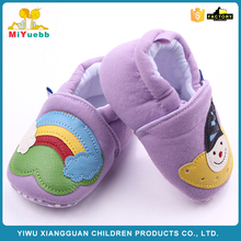Factory Supply custom design Joker and rainbow pattern baby cotton shoes