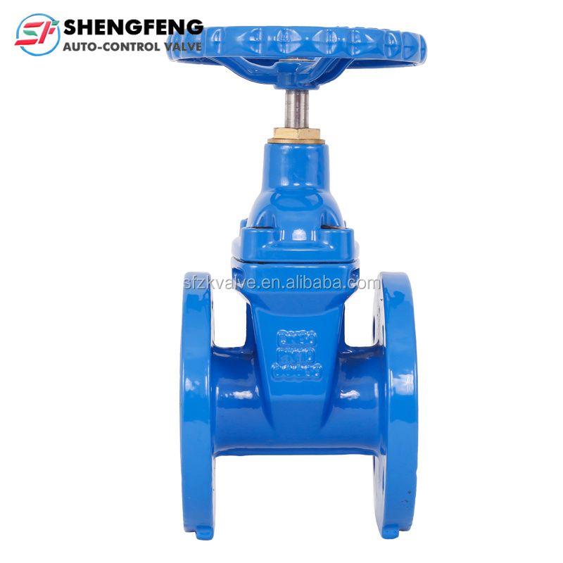 DIN F4 GGG50 DN100 resilient seated ductile iron gate <strong>valve</strong>